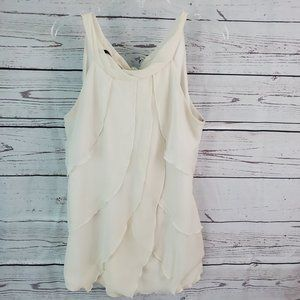 Maurices Cream Layer Tank Top Large Career Wear